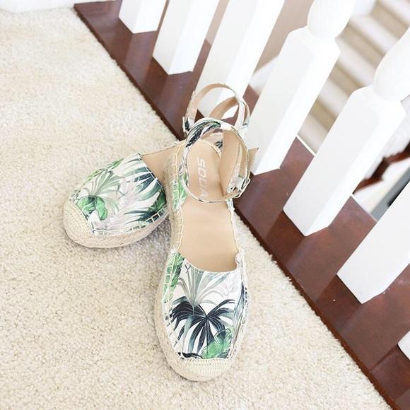 8c25b682dbc3f Soda Shoes | Fiesta Canvas Low Wedge Espadrille Sandal | Poshmark